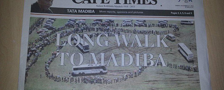 FILE: The Cape Times newspaper. Picture: Lindiwe Mlandu/EWN.