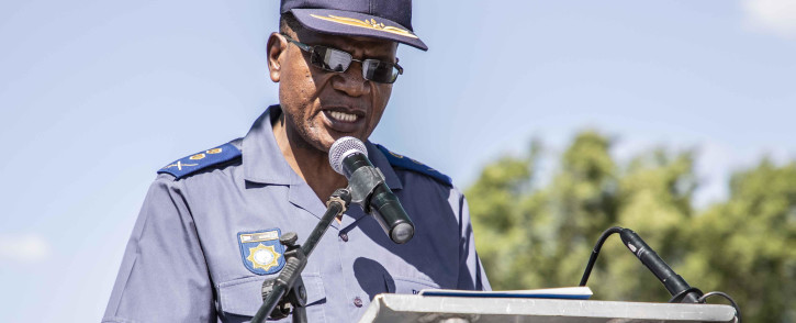 Acting Gauteng police commissioner Major-General Max Masha at the SAPS Gauteng launch of the 2018 safer festive season operations. Picture: Abigail Javier/EWN