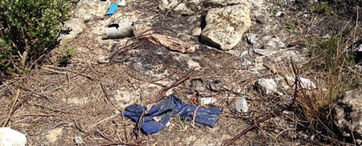 The scene where a nine-year-old Delft girl was raped, set alight and then left for dead. Picture: Carmel Loggenberg/EWN.