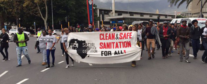 FILE: The group, led by the Social Justice Coalition, has handed over a list of demands relating to poor sanitation and safety concerns in the area. Picture: Natalie Malgas/EWN.