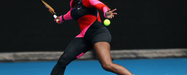 Serena Williams in action on day 1 of the Australian Open on 8 February 2021. Picture: @AustralianOpen/Twitter