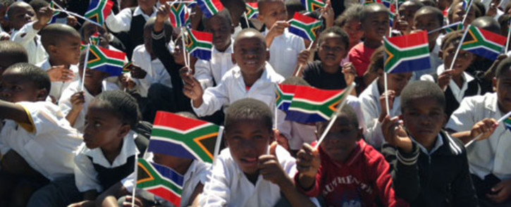 New playground and gym equipment was delivered to 11 Diepsloot schools as part of the Christmas event. Picture: Vumani Mkhize/EWN.