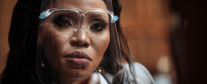 Norma Mngoma appears before the Pretoria Magistrates Court on 14 September 2020 after she was arrested in July on charges of malicious damage to property and crimen injuria. Picture: Abigail Javier/EWN.