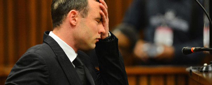Oscar Pistorius at the High Court in Pretoria on 30 June 2014 after spending 30 days under psychiatric observation to determine if he should be held criminally responsible for killing Reeva Steenkamp. Picture: Pool.