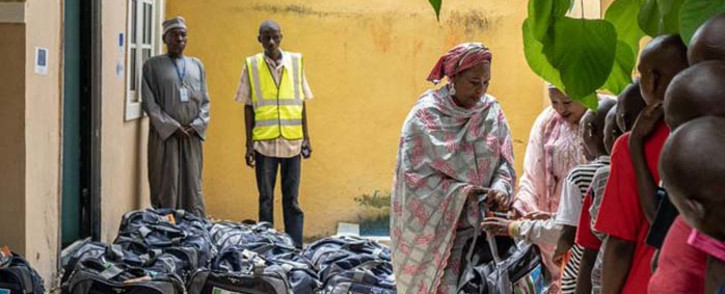 Children cleared of association with armed Islamist groups in Nigeria were released by the Nigerian army on 3 October 2019 in the country's restive northeast region. The children received kits from Unicef to help them start a new life. The kit included clothes, shoes, hygiene items and others. Picture: @UNICEF_Nigeria/Twitter.