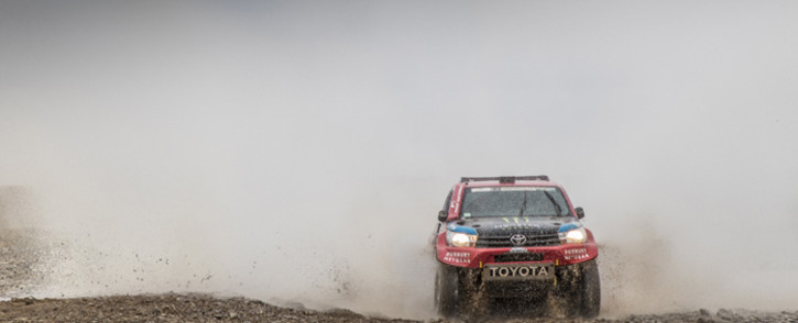 Nani Roma and Alex Haro during stage 10 of the Dakar Rally 2017. Picture: Toyota.