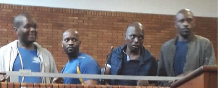 Phumlani Tshabalala, Mzandile Master Mbatha, Mduduzi Richard Sithole and Mbongiseni Cyprian Langa are some of the group that escaped from Springs Magistrates Court. Picture: SAPS.