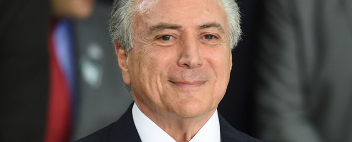 FILE: Former Brazil President Michel Temer. Picture: AFP