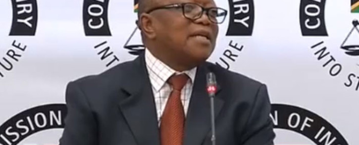 FILE: A screengrab of Transnet board chair Popo Molefe appearing at the Zondo Commission on 7 May 2019. Picture: YouTube