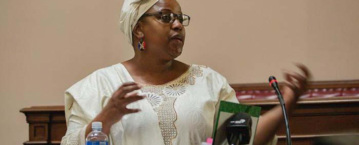 FILE: Former SAA board chairperson Dudu Myeni testifying in her delinquency case at the High Court in Pretoria on 20 February 2020. Picture: EWN