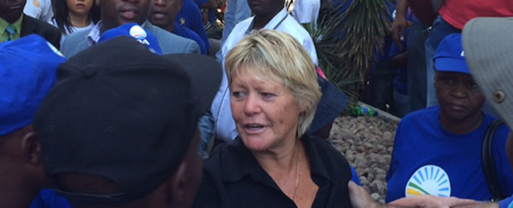 Glynnis Breytenbach outside court on 15 February 2016. She says she won't apply to have charges dropped, wants trial. Picture: Barry Bateman/EWN