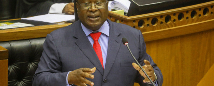 Finance Minister Tito Mboweni delivers his Budget speech in Parliament on 24 February 2021. Picture: GCIS.
