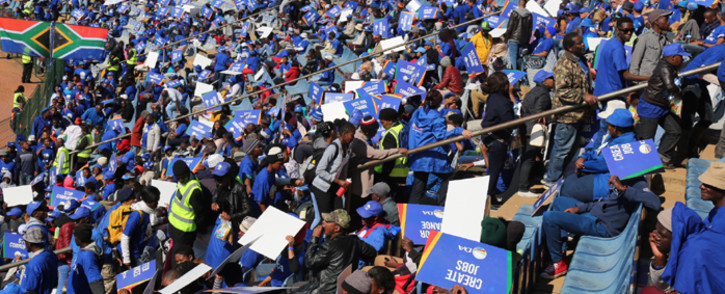 Thousand people are expected to arrive at the Dobsonville Stadium in Soweto on 30 July 2016 for the Democratic Alliance closing election rally. Picture: Christ Eybers/EWN