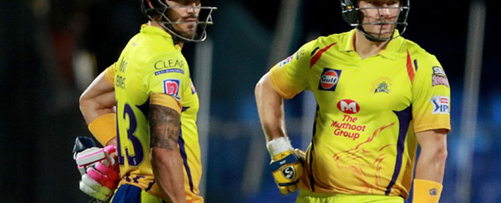 Faf du Plessis (left) and Shane Watson (right) in action for the Chennai Super Kings. Picture: @ChennaiIPL/Twitter