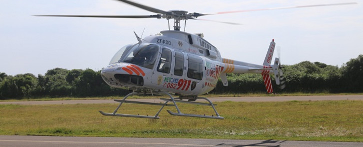 FILE: A Netcare911 helicopter. Picture: @Netcare911_sa/Twitter.