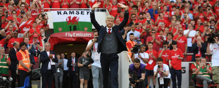 FILE: Former Arsenal manager Arsene Wenger says goodbye to the club. Picture: @Arsenal/Twitter