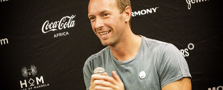 FILE: Coldplay lead singer Chris Martin speaks ahead of the Global Citizen Festival set to take place on 02 December. Picture: Kayleen Morgan/EWN