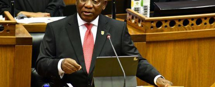 President Cyril Ramaphosa delivers his State of the Nation Address in Parliament on 11 February 2021. Picture: GCIS