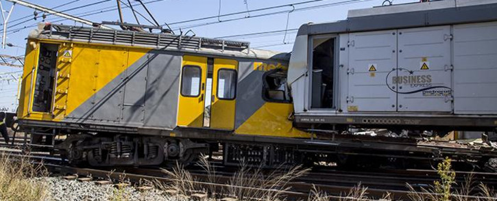Two trains collided near the Elandsfontein station in Johannesburg on 1 June 2017. Picture: Reinart Toerien/EWN.