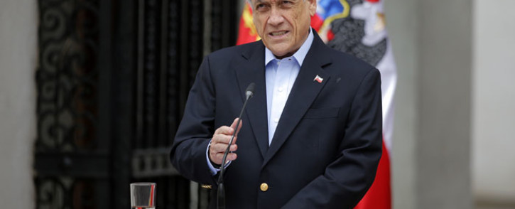 FILE: Chilean President Sebastian Pinera addresses the nation in Santiago, on 26 October 2019. Picture: AFP