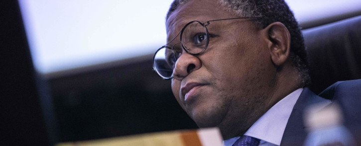 Transport Minister Fikile Mbalula at 2019 Southern African Transport Conference. Picture: Abigail Javier/EWN
