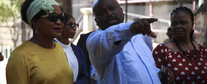 Speaker of the National Assembly, Baleka Mbete did a final inspection of the Parliamentary Precinct ahead of SONA 2019.  Picture: Cindy Archillies/EWN