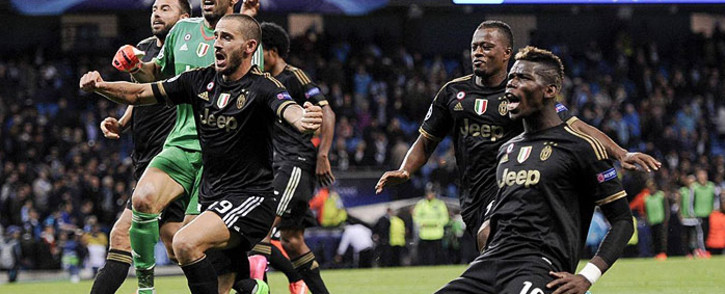 Juventus players celebrate after beating Manchester City 2-1 in their opening Champions League match on 15 September 2015. Picture: Juventus/Facebook.