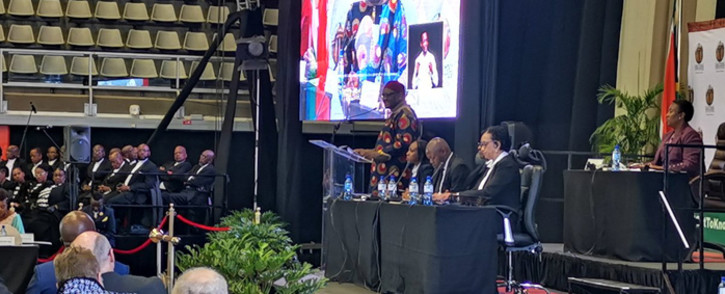 Gauteng Premier David Makhura delivered his State of the Province Address at the University of Johannesburg's Soweto campus on 1 July 2019. Picture: @GP_DHS/Twitter.