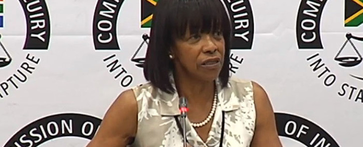 A video screengrab of former SAA chairperson Cheryl Carolus testifying at the state capture inquiry on 29 November 2018. Picture: YouTube