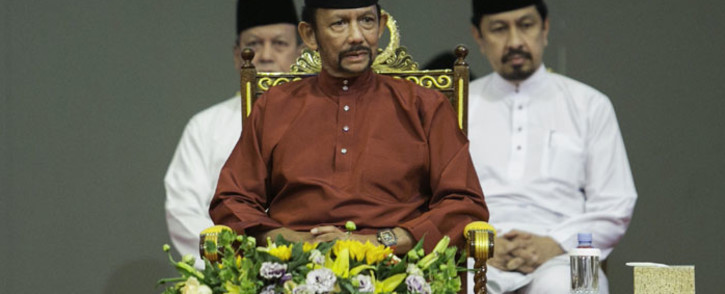 Brunei's Sultan Hassanal Bolkiah attends an event in Bandar Seri Begawan on 3 April 2019. Picture: AFP