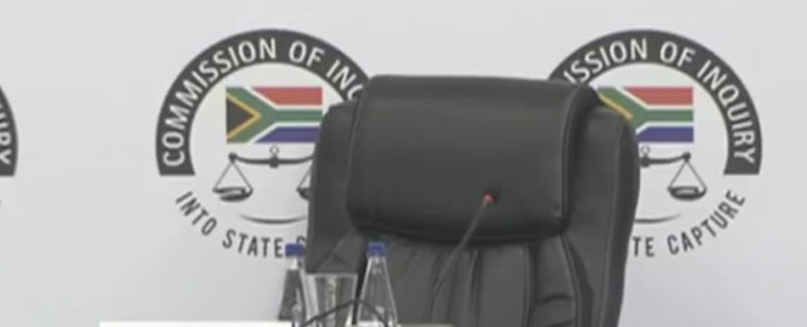 A video screengrab of the Commission of Inquiry into State Capture.