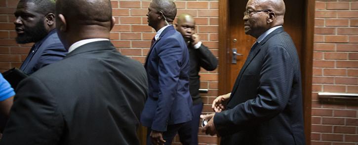 President Jacob Zuma at the Pietermaritzburg Court on 21 May 2019. Picture: Sethembiso Zulu/EWN