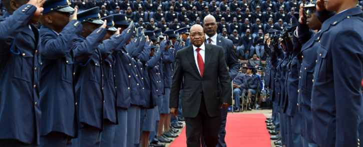 President Jacob Zuma addressed the South Africa Police Service Commemoration Day to remember police officers killed in the line of duty, Union Buildings, Pretoria, on 6 September 2015. Picture: GCIS