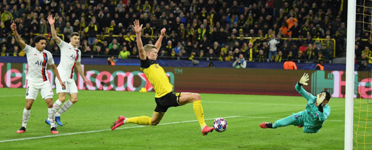 Borussia Dortmund's Erling Braut Haaland in action against PSG in their UEFA Champions League match on 18 February 2020. Picture: @BlackYellow/Twitter