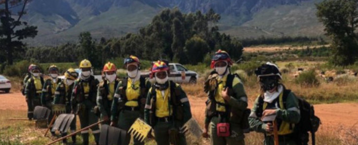 Team Juliet is the country's first all-female Firefighting crew from the NCC Group that are assisting with firefighting operations in our Stellenbosch Municipal area. Picture: Twitter/@StellMun