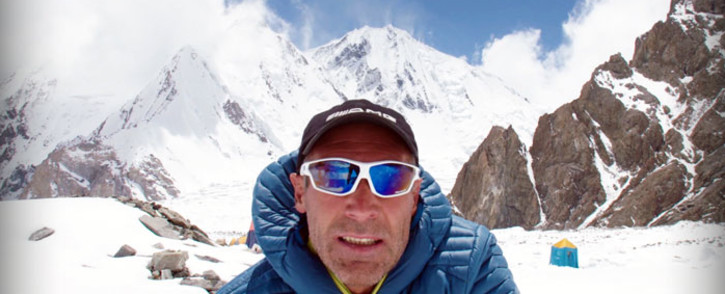 Adventurer Mike Horn at the base of K2 during his attempt to summit. Picture: Mike Horn