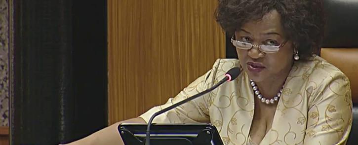 A screen grab of parliamentary speaker Baleka Mbete.Picture: YouTube