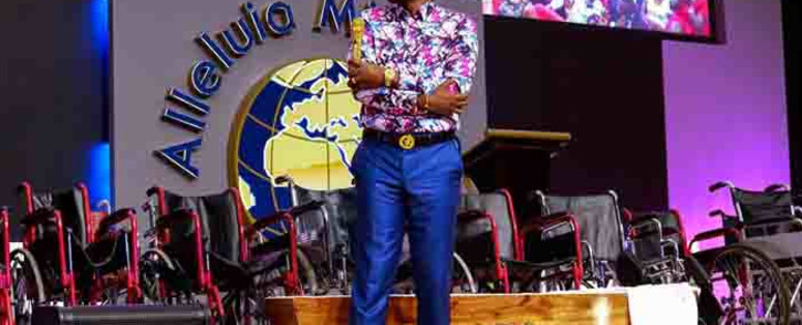 Alleluia Ministries International church leader Alph Lukau. Picture: @AlleluiaMinistriesInternationalOfficialPage via Facebook.