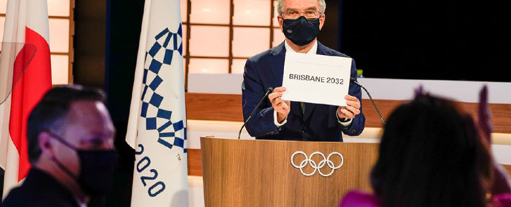International Olympic Committee president Thomas Bach on 21 July 2021 confirms Brisbane as the host city for the 2032 Olympic Games. Picture: @iocmedia/Twitter