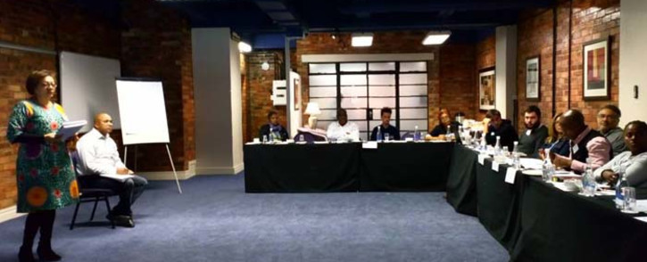 #UniteBehind met with Passenger Rail Agency of South Africa regional management, including Metrorail's Richard Walker, to discuss some of the ongoing problems affecting the train service. Picture: @UniteBehind/Twitter.