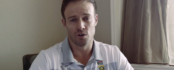 A screengrab of Proteas captain AB de Villiers during the special YouTube video.