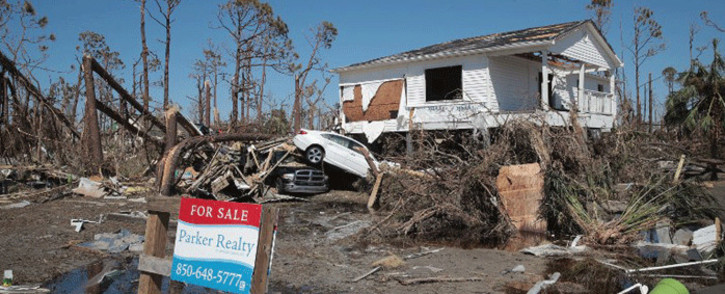 Storm debris litters the town after Hurricane Michael on 13 October, 2018 in Mexico Beach, Florida. Picture: AFP