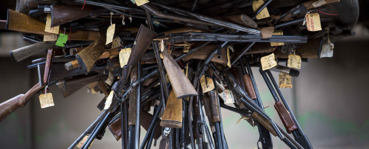 FILE: Confiscated and retired firearms are destroyed by SAPS at SCAW Metal in Germiston. Picture: Thomas Holder/Eyewitness News