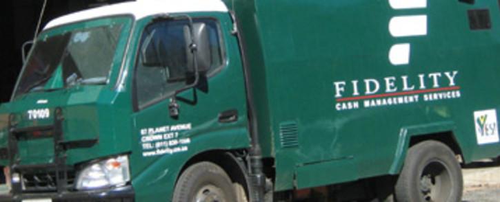 Fidelity cash in transit van. Picture: Eyewitness News
