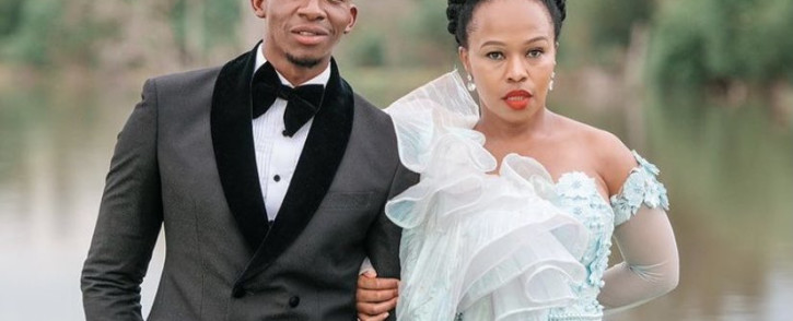 Actor Sindi Dlathu (pictured here with co-star Lawrence Maleka) won the best actress award at the Saftas held on Saturday, 22 May 2021. Picture: Twitter/@S_Dlathu