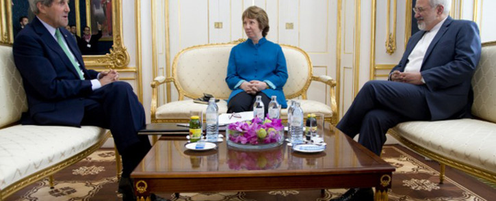 FILE: US Secretary of State John Kerry (L), EU High Representative Catherine Ashton, and Iranian Foreign Minister Mohammad Javad Zarif. Picture: AFP.