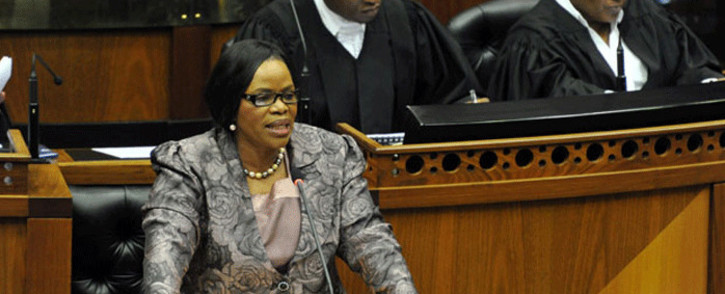 National Freedom Party (NFP) leader Zanele ka Magwaza-Msibi in Parliament in 2014. Picture: GCIS.