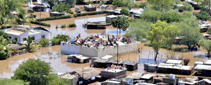 Gift of the Givers was forced to walk out of an aid distribution camp in flood-hit Mozambique this week. Picture: AFP