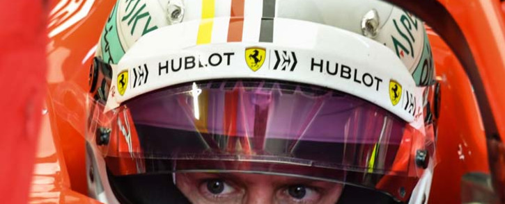 Ferrari's German driver Sebastian Vettel sits in his car at the pits at the Interlagos racetrack in Sao Paulo, Brazil on 10 November 2018, on the eve of the Brazil Formula One Grand Prix. Picture: AFP