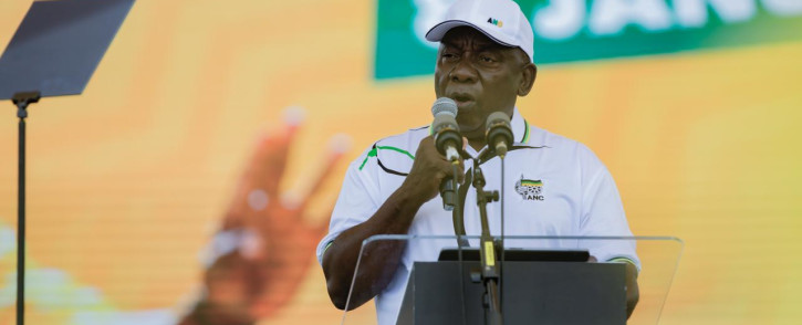 FILE: President Cyril Ramaphosa addresses ANC supporters during the party's 108th birthday celebrations in the Northern Cape. Picture: Sethembiso Zulu/Eyewitness News.